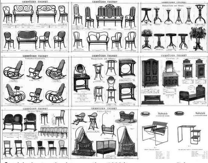 Thonet la silla de einstein marcasehistoria for Nombres de muebles antiguos