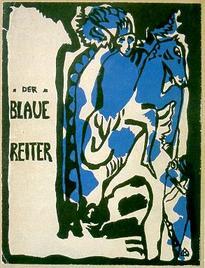 """Cartel representativo del grupo expresionista """"El Cabalo Azul"""", 1911-1913"""