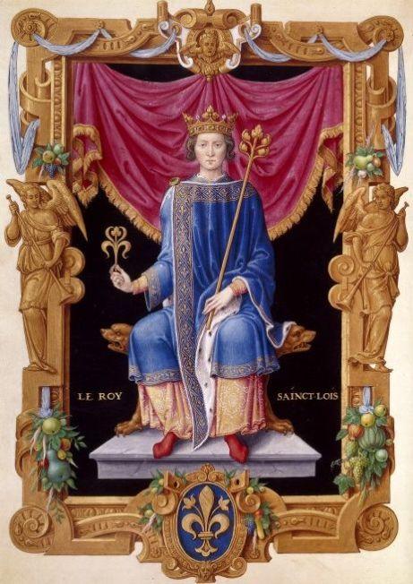 Luis IX de Francia, obra de Jean Du Tillet, Siglo XVI. Bibliothèque Nationale de France.