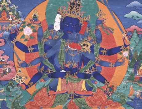 "Guhyasamaja con Sparshavajra, ""Encuentro Secreto"", Siglo XVII. Rubin Museum of Art/Tibet House, Nueva   York"