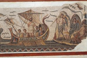 Ulises y las sirenas. Museo Nacional del Bardo, Túnez. Siglo III a.C.